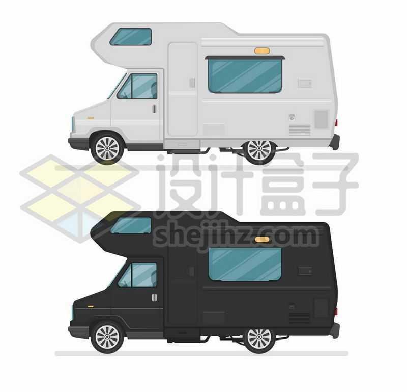 灰色和黑色奔驰房车侧面图6492163矢量图片免抠素材