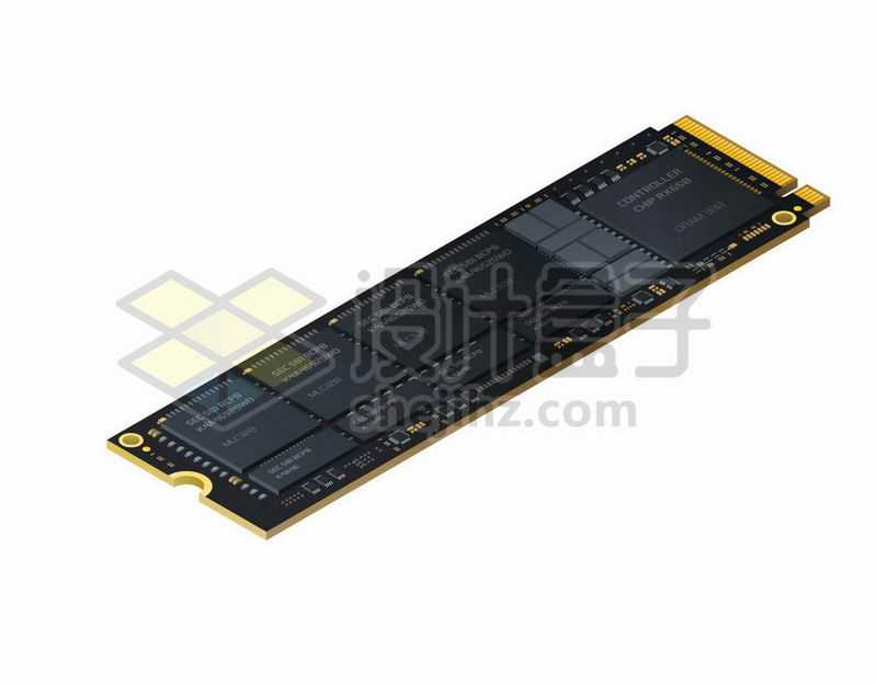 一根SSD固态硬盘电脑配件7931855矢量图片免抠素材