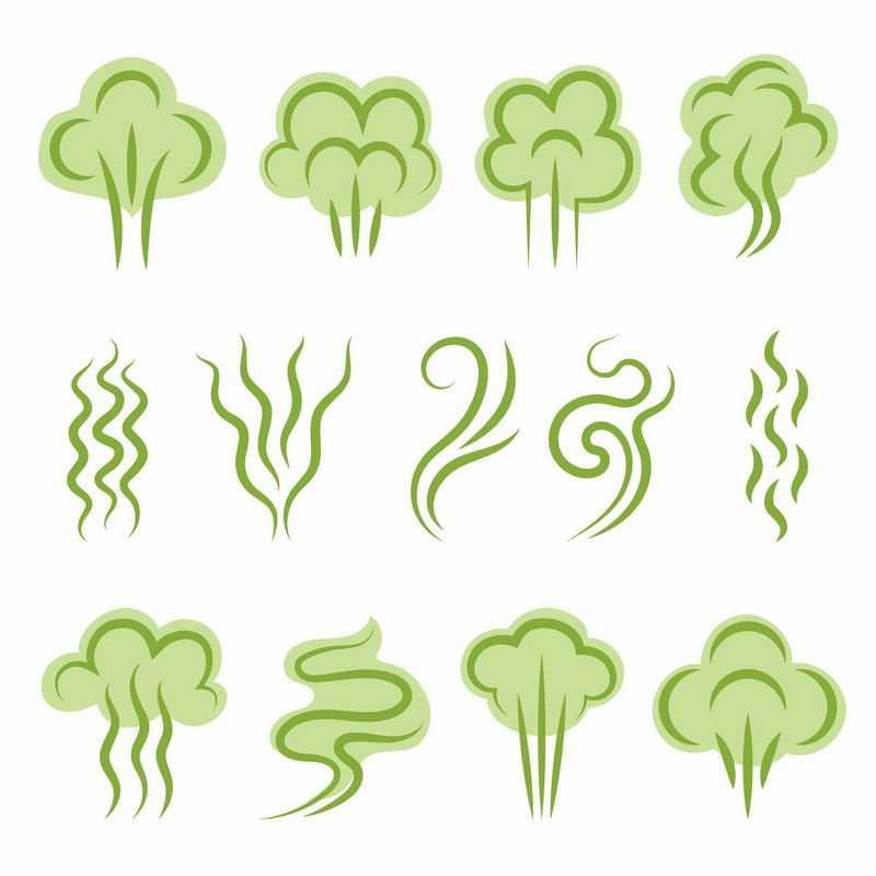 12款绿色的气体放屁图案8796407图片免抠素材