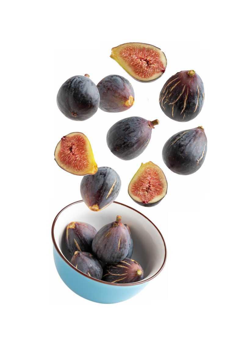 碗中飞起来的无花果美味水果7445817免抠图片素材