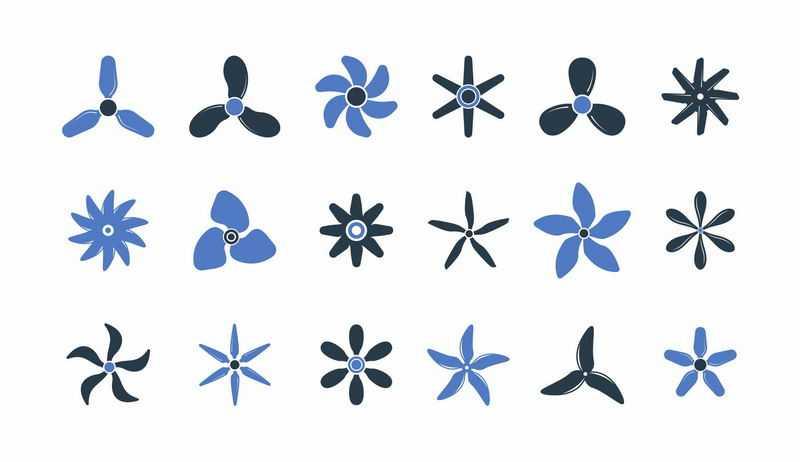 18款各种形状的螺旋桨形状4518081图片免抠素材