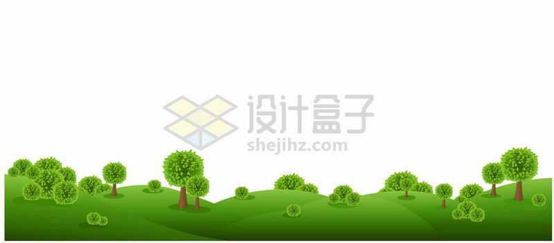 绿色草地草原山坡风景图9709754矢量图片免抠素材