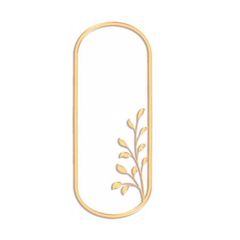 金色金属色风格植物浮雕效果边框文本框信息框6366228免抠图片素材