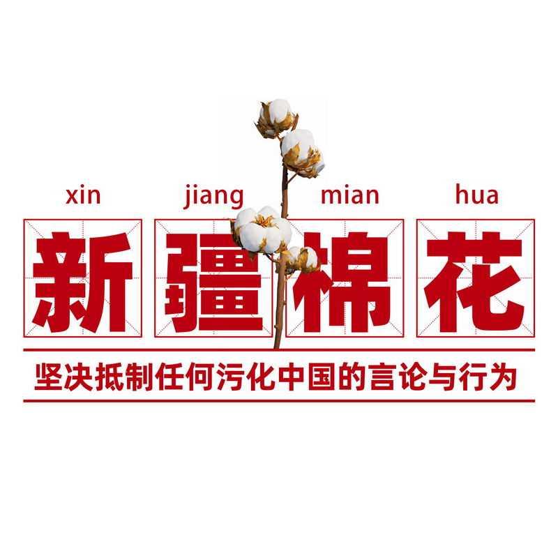 支持新疆棉花艺术字体标题9178276免抠图片素材