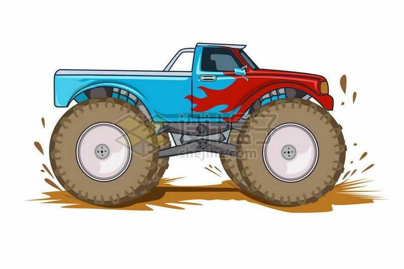 溅起泥水的大脚车越野车2700289矢量图片免抠素材
