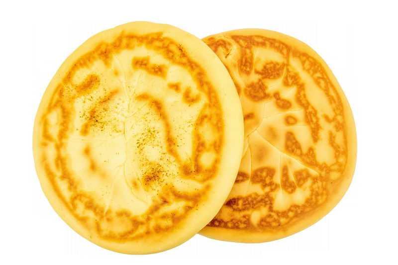 2个陕西传统小吃美味美食的锅盔饼3018566png图片免抠素材