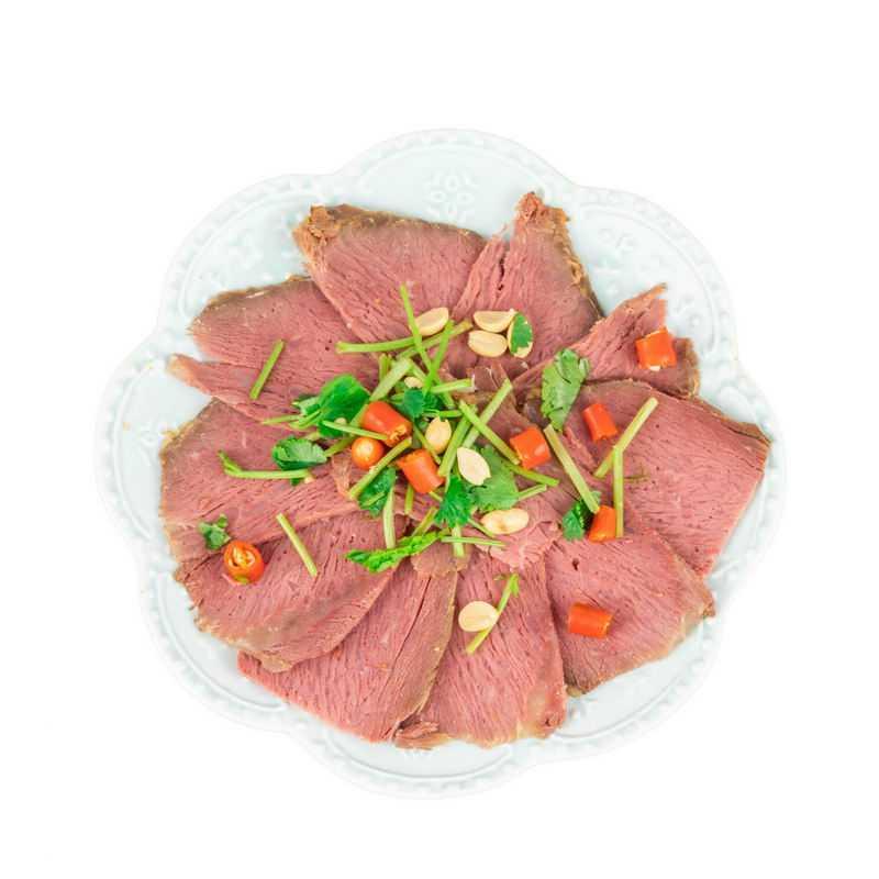 一盘冷切牛肉牛舌美味美食4591267png图片免抠素材