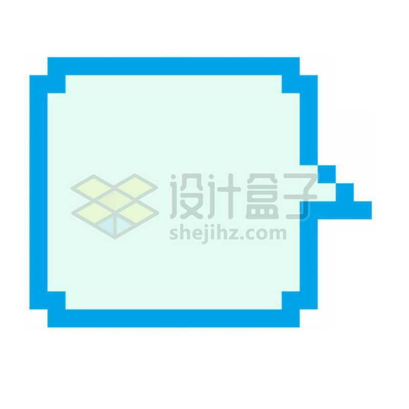 蓝色像素风格的对话框8760277免抠图片素材