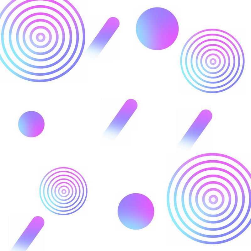 渐变色风格电商同心圆等圆形装饰2346148免抠图片素材