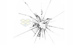 玻璃破碎效果图片素材