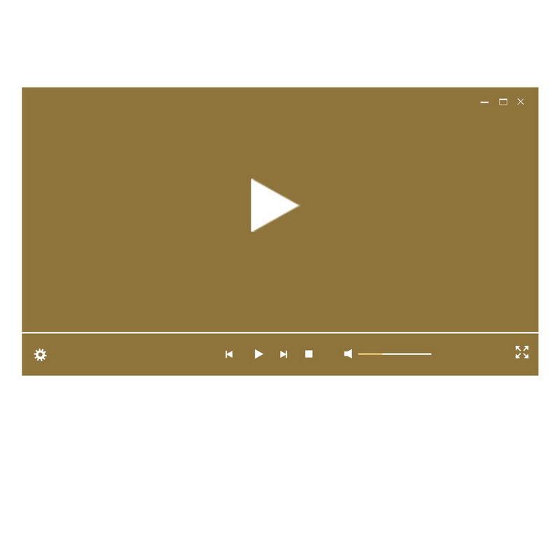 棕色电脑视频播放器界面设计3381019图片素材 UI-第1张