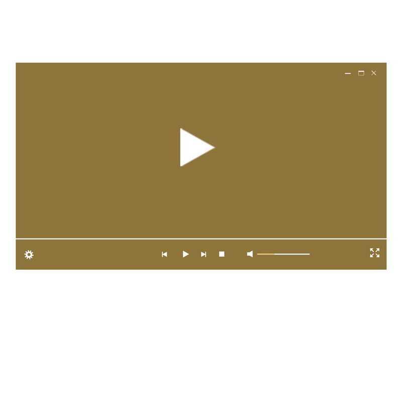 棕色电脑视频播放器界面设计3381019图片素材