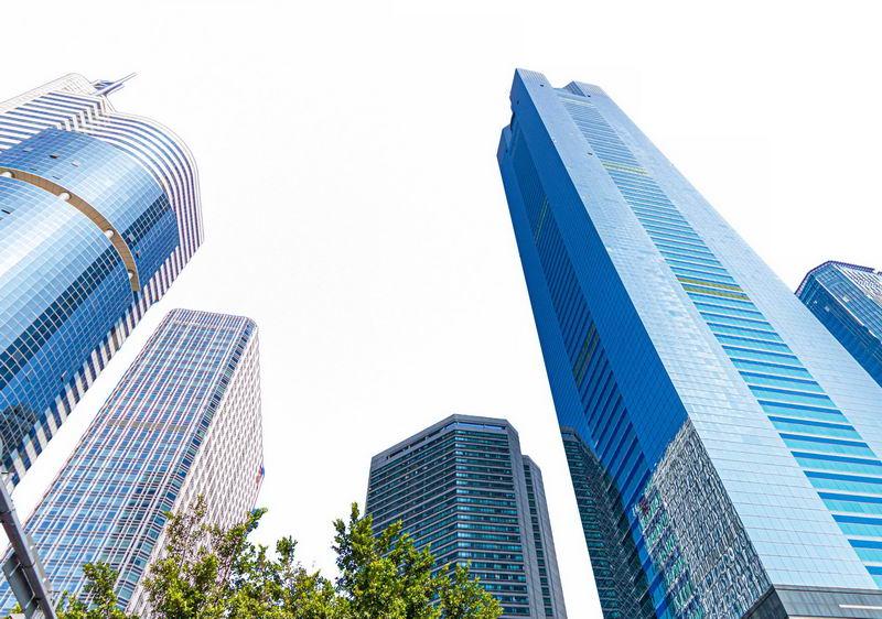 俯视视角的城市高楼大厦建筑4681279png图片免抠素材 建筑装修-第1张