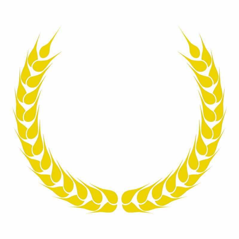金黄色麦穗徽章标志logo边框装饰4363153AI矢量图片免抠素材