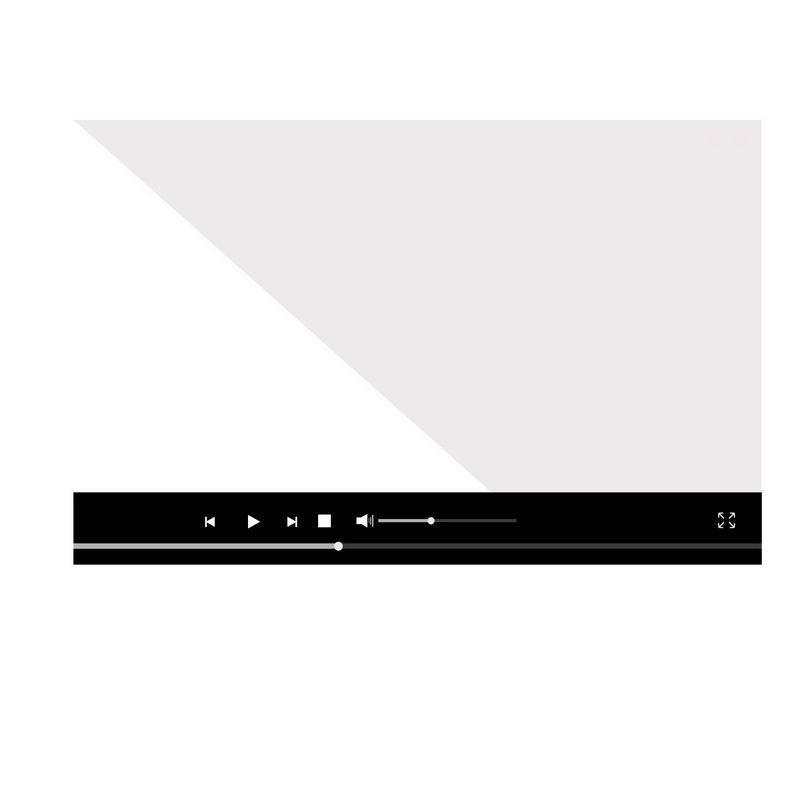 扁平化风格黑色电脑视频播放器界面设计4370524图片素材 UI-第1张