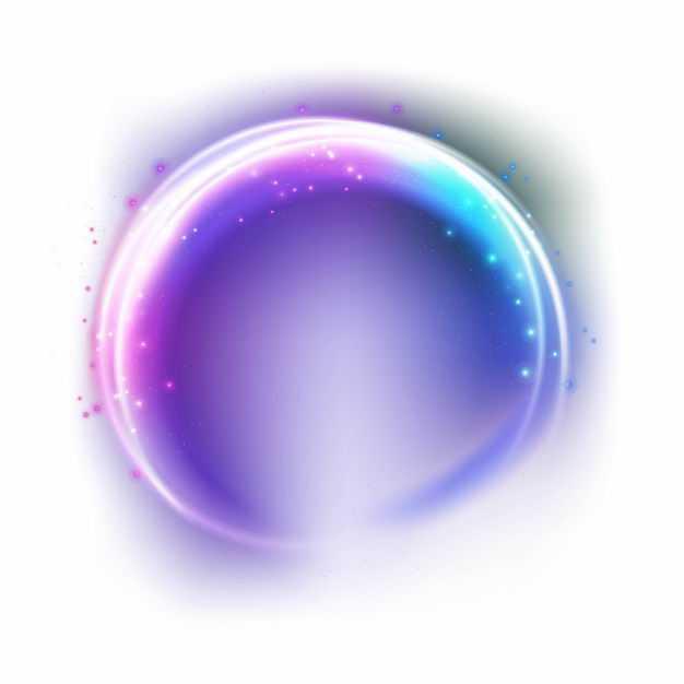 紫色蓝色粉色彩色炫光发光光圈效果4326066矢量图片免抠素材