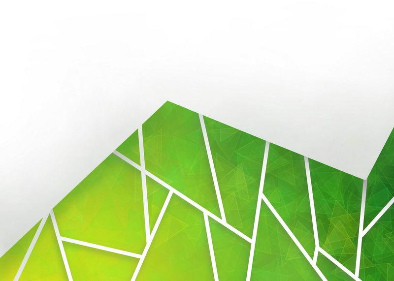 多边形绿色破裂玻璃效果背景图9645891图片素材 背景-第1张