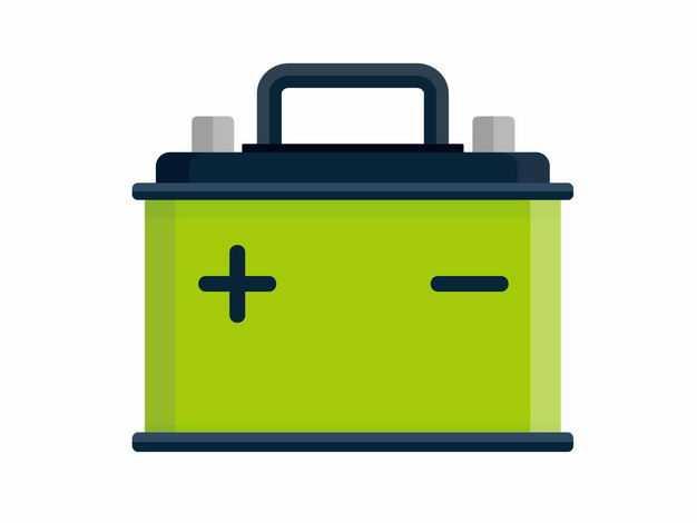 绿色的电池带正负极标志8909324矢量图片免抠素材