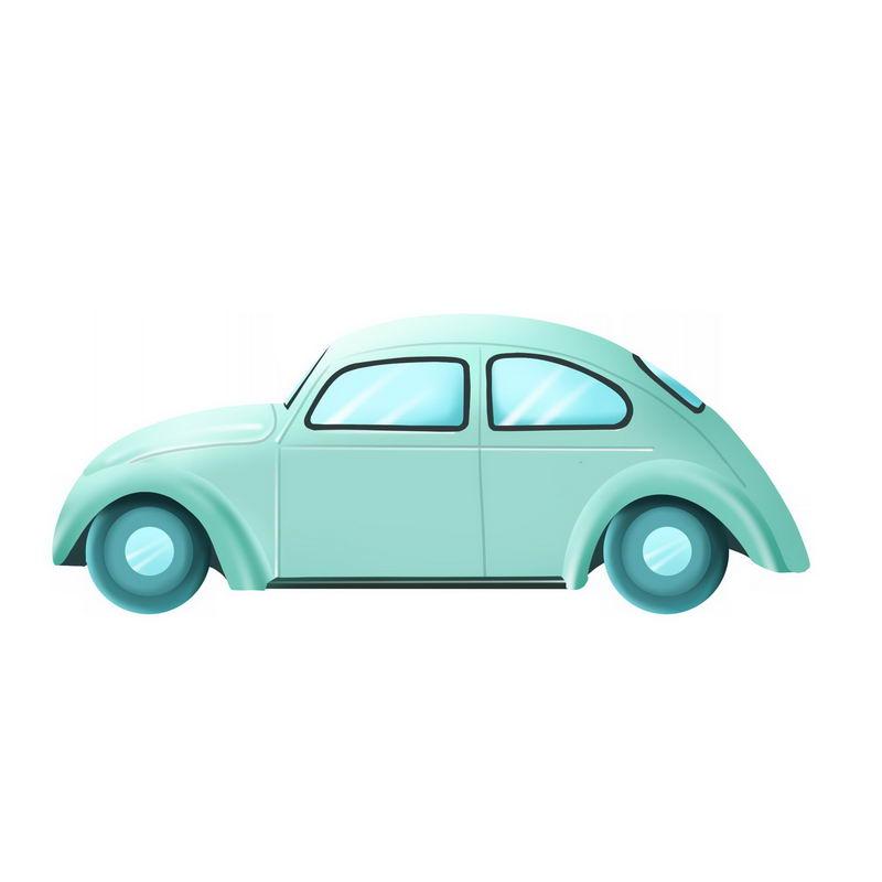 绿色的卡通甲壳虫汽车侧面图3310356免抠图片素材 交通运输-第1张