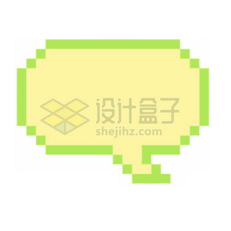 绿色像素风格的对话框3060793免抠图片素材 边框纹理-第1张
