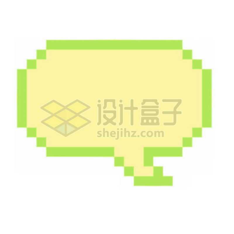 绿色像素风格的对话框3060793免抠图片素材