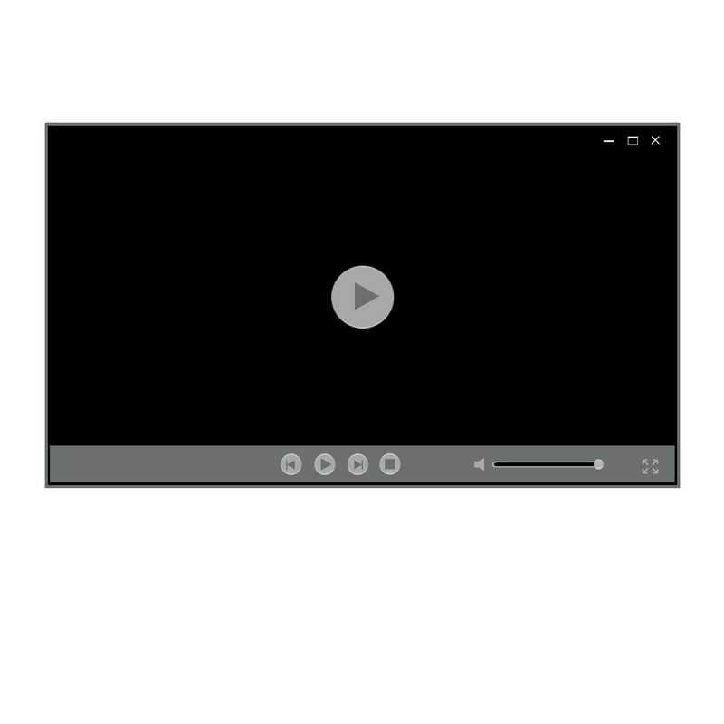 灰色电脑视频播放器界面设计4045893图片素材