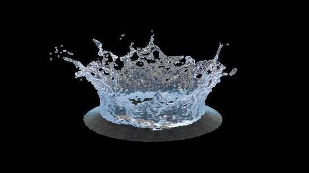 淡蓝色水花飞溅喷溅效果720972png图片免抠素材
