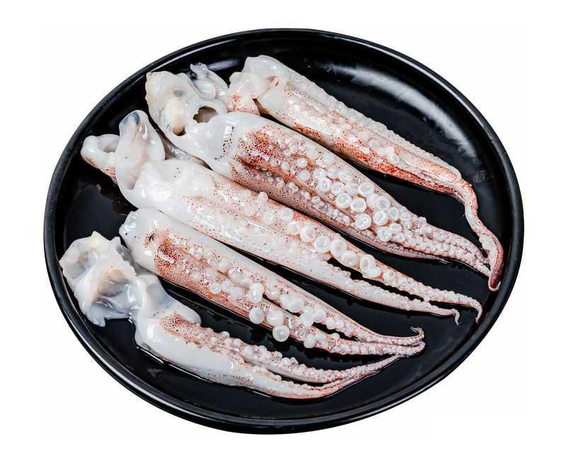盘子里装的鱿鱼须美味食材5712602png图片免抠素材