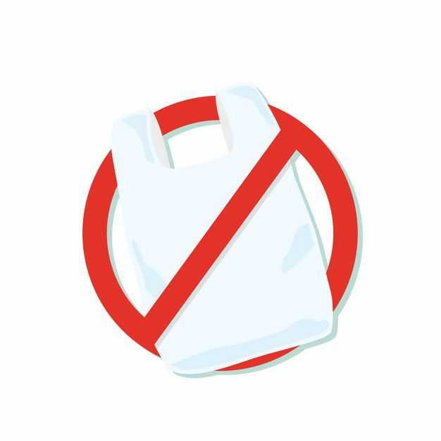 禁止不可降解塑料袋限塑令标志7153311矢量图片免抠素材