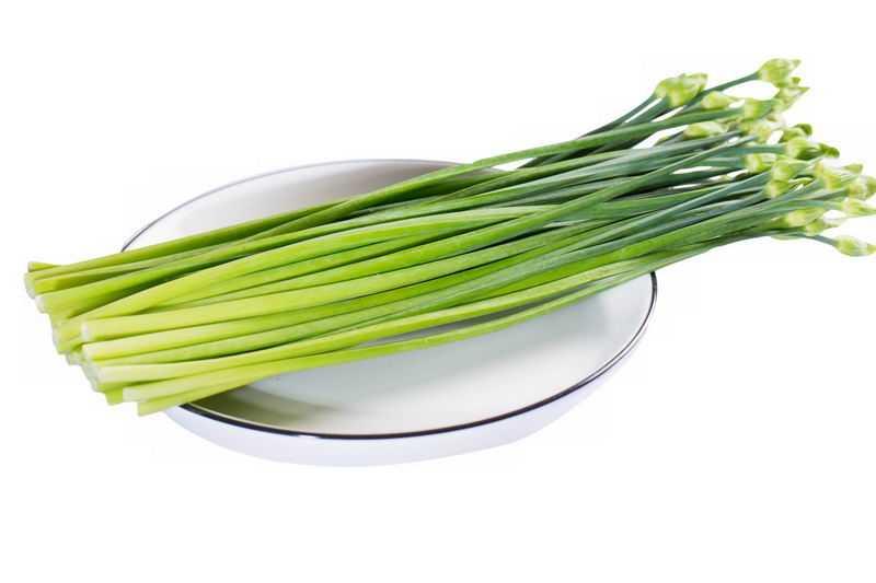 盘子中的蒜薹蒜苔蒜毫美味蔬菜9377858png图片免抠素材