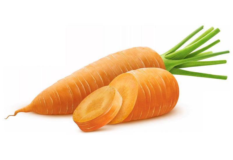 洗干净的胡萝卜和切片美味蔬菜1524731免抠图片素材 生活素材-第1张