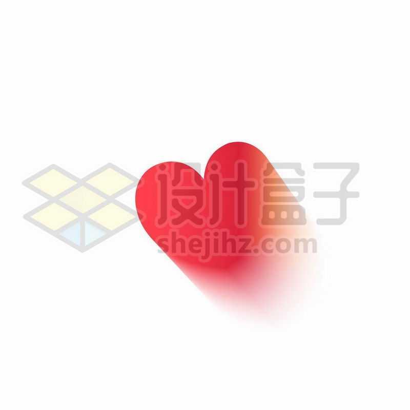长阴影风格红心心形图案8498125矢量图片免抠素材