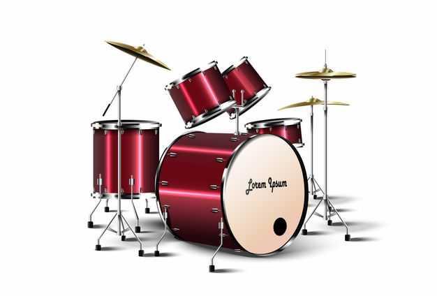 红色架子鼓爵士鼓西洋乐器打击乐器4581619矢量图片免抠素材
