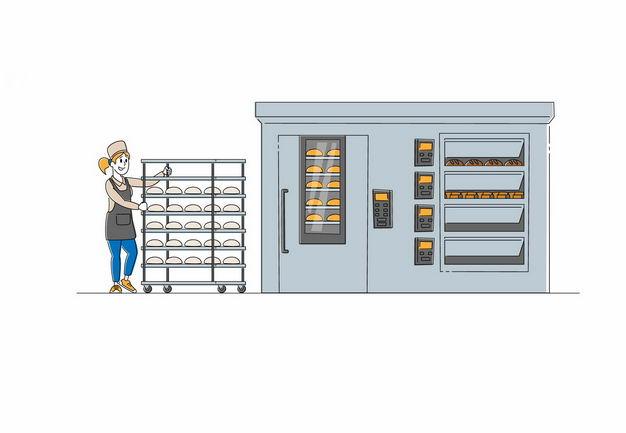 卡通厨师正在准备烘焙面包9545758矢量图片免抠素材 健康医疗-第1张
