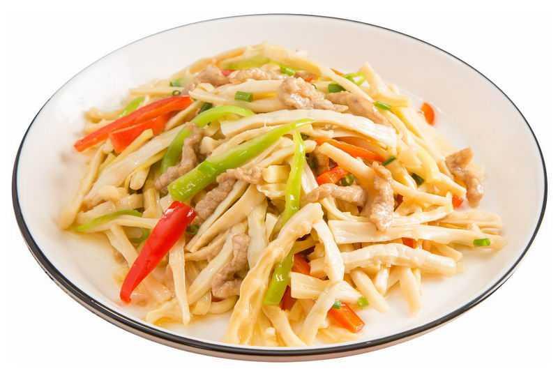 一盘竹笋炒肉丝美味家常菜美食8503856png图片免抠素材