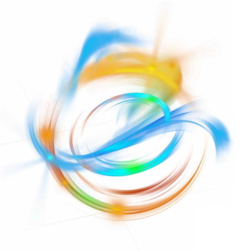 绚丽的彩色光芒光晕光圈发光抽象光球效果6303374免抠图片素材