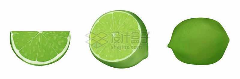 切开的青柠檬美味水果6436802矢量图片免抠素材