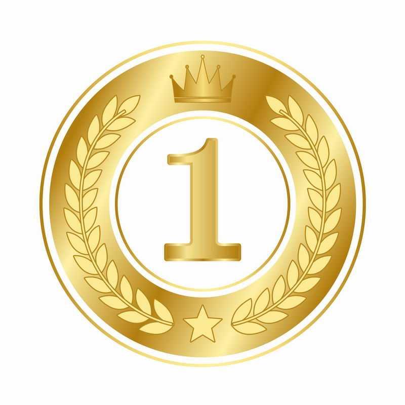 金色麦穗徽章标志logo边框装饰第一名4300036AI矢量图片免抠素材