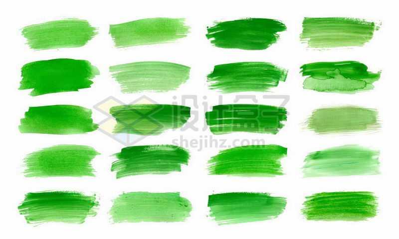 20款绿色涂鸦颜料油画笔触笔刷效果4879664矢量图片免抠素材