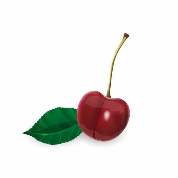 一颗红樱桃美味水果9401993矢量图片免抠素材