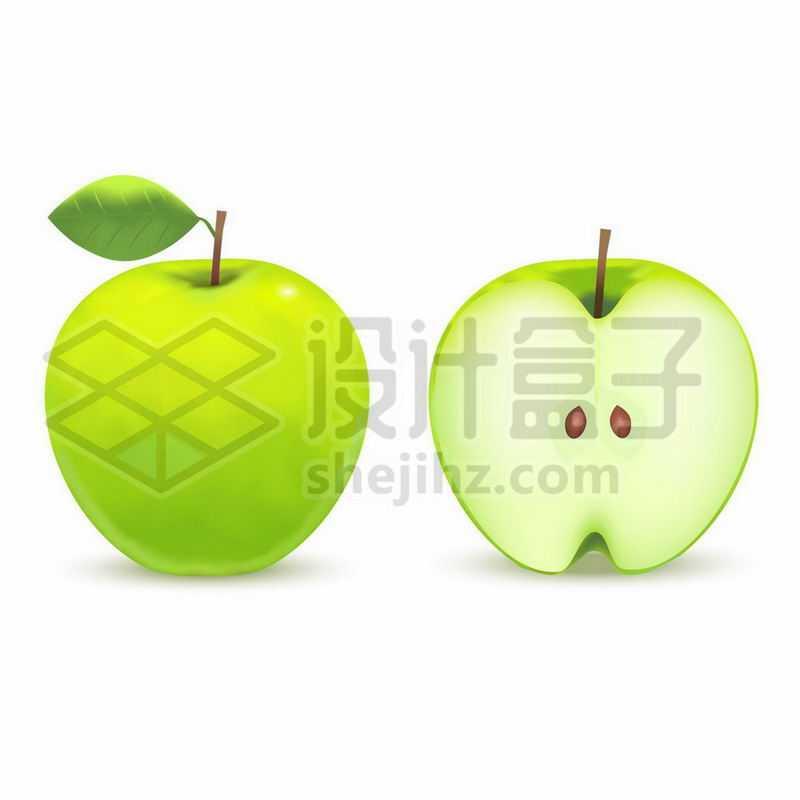 切开的青苹果美味水果1781708矢量图片免抠素材