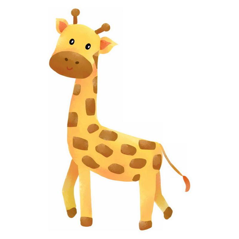 一只可爱的卡通长颈鹿2065770png图片免抠素材 生物自然-第1张