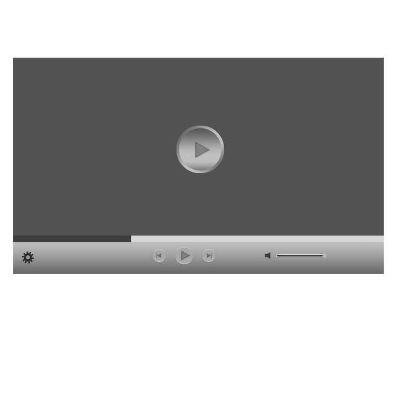 灰色的电脑视频播放器界面设计7393558图片素材