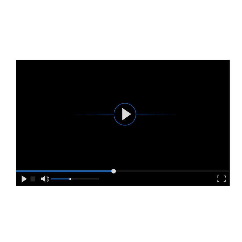 黑色蓝色电脑视频播放器界面设计5063127图片素材 UI-第1张