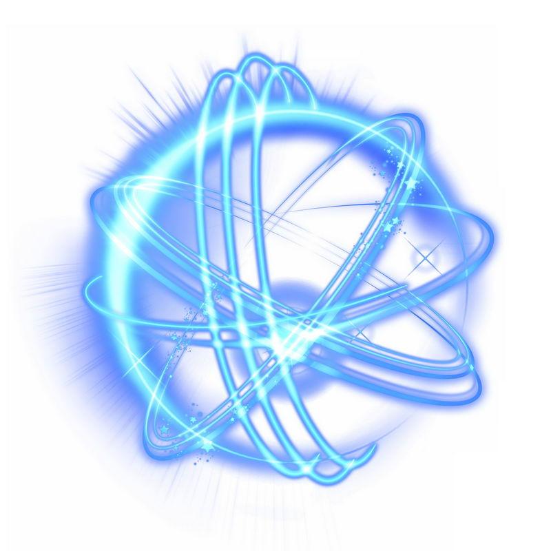 科技风格蓝色光芒光晕光圈发光抽象光球效果9483122免抠图片素材 效果元素-第1张