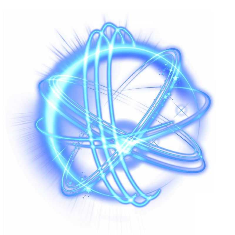 科技风格蓝色光芒光晕光圈发光抽象光球效果9483122免抠图片素材