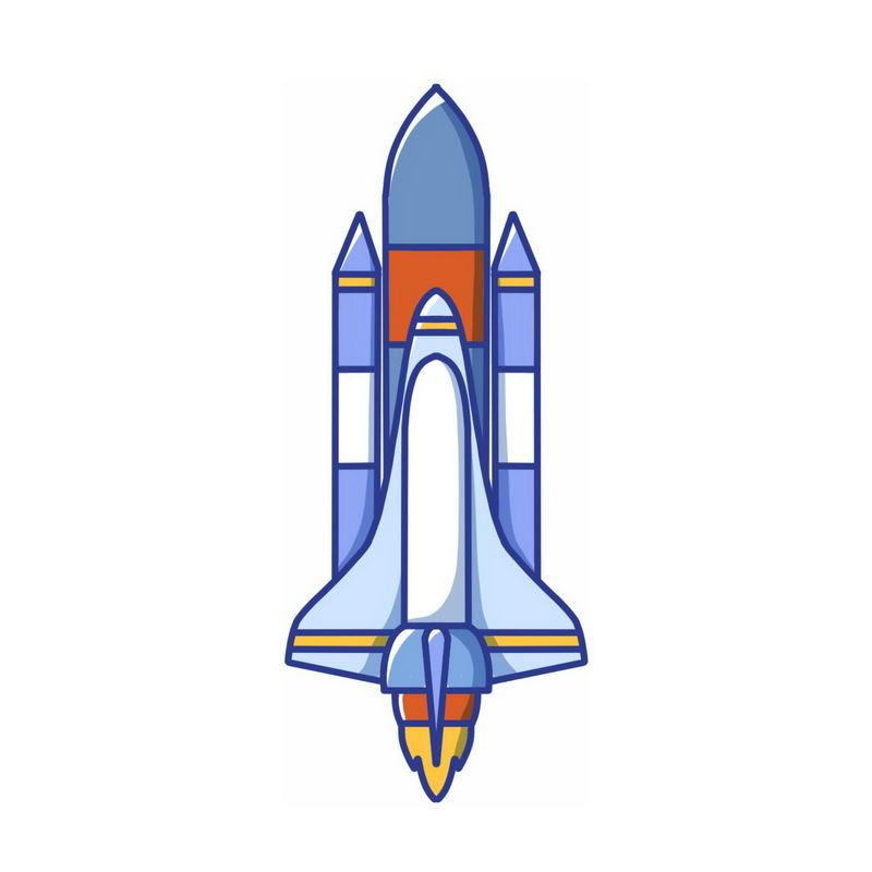 正在起飞的卡通航天飞机7416399免抠图片素材 军事科幻-第1张