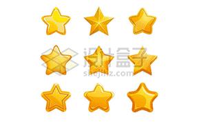 各种五角星图案图片素材