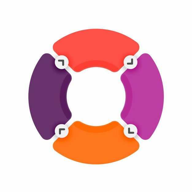 彩色循环PPT信息图表1205504矢量图片免抠素材