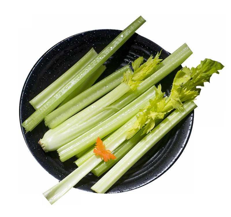 盘子中的芹菜美味蔬菜9597740png图片免抠素材